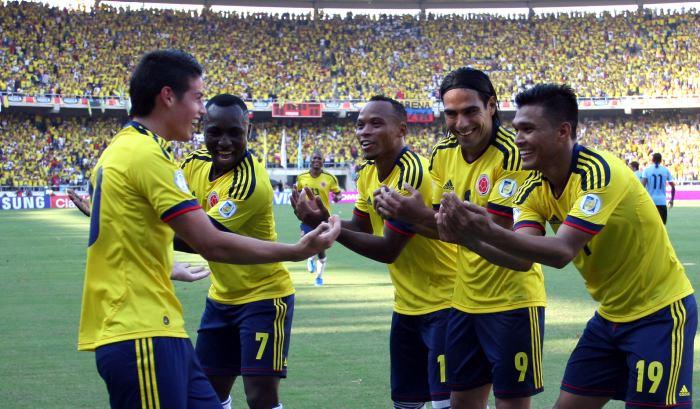 Colombia sigue siendo la sexta mejor selección de fútbol en todo el mundo