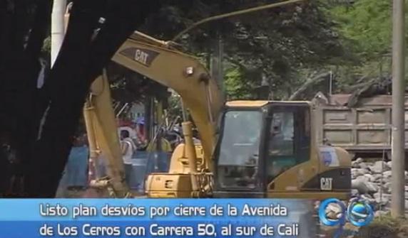 Desvíos por obras de puente en la Avenida de Los Cerros