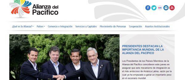 Alianza del Pacífico ya tiene sitio web