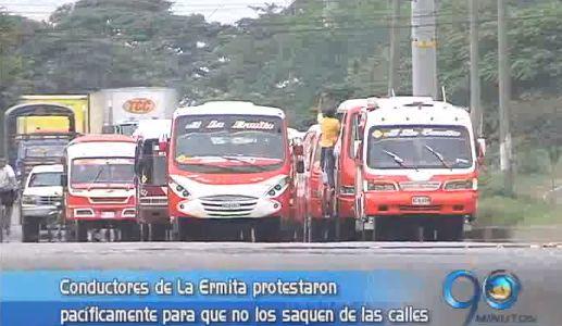 Nueva protesta de conductores de La Ermita