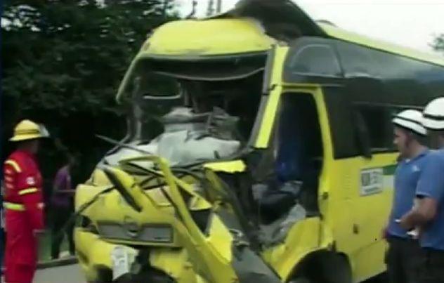 Accidente de tránsito   deja  40 heridos en Piendamó