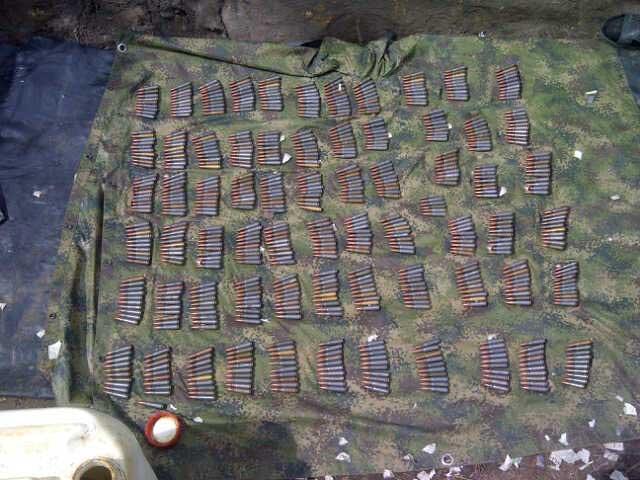 Ejército halló caleta con cerca de mil cartuchos de las Farc