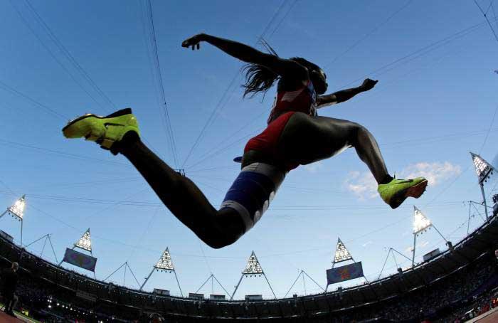 Catherine Ibargüen saltó más y alcanzó la cima del podio en Noruega