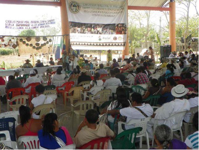 Cumbre de pueblos indígenas en el Cauca.