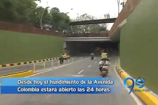 Las 24 horas del día estará abierto el hundimiento de la Av Colombia