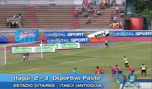 Deportivo Pasto le ganó a Itagüí en Antioquia y es segundo del grupo B