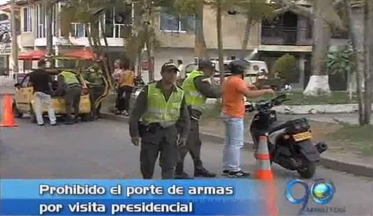 Medidas especiales de seguridad por visita de Santos