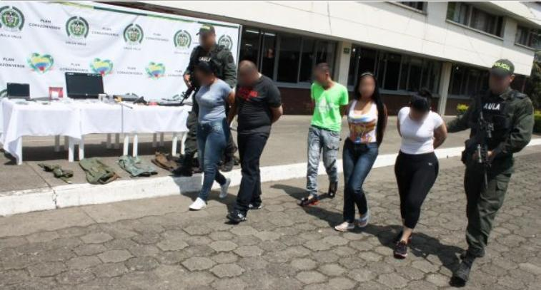 Capturados cinco miembros de las Farc