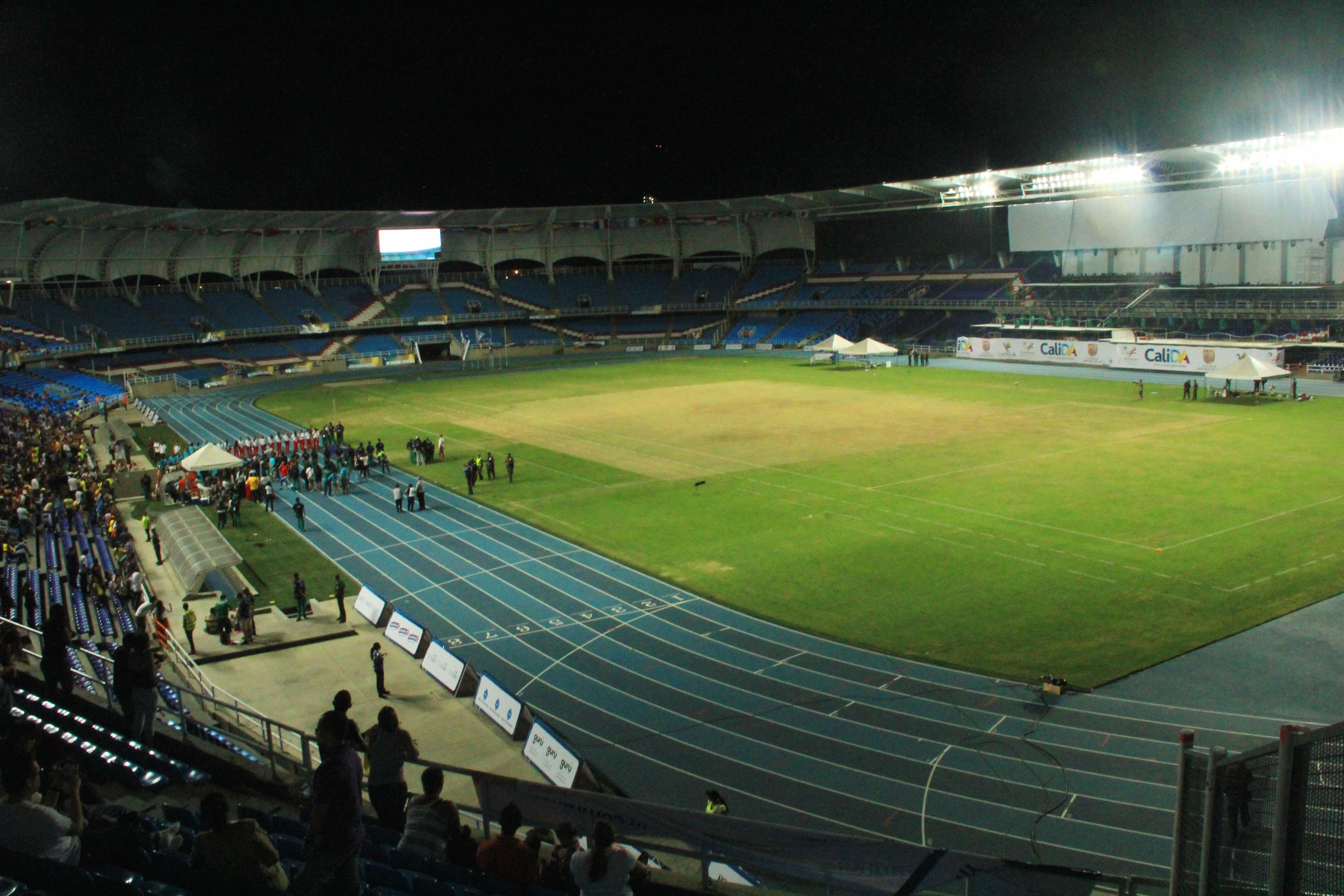 Juegos Mundiales tienen al límite el gramado del estadio Pascual Guerrero.