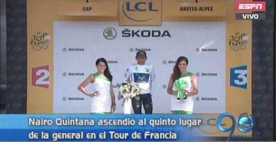 Nairo Quintana ascendió al quinto lugar en el Tour de Francia