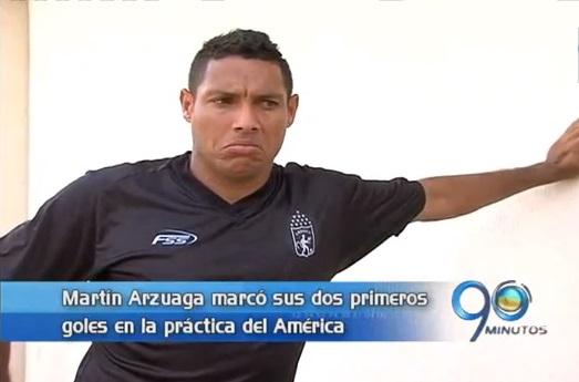 Martín Arzuaga marcó sus primeros dos goles con el América