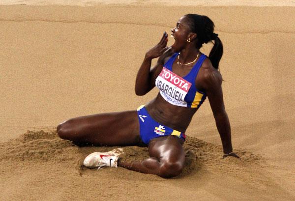 Catherine Ibargüen arrasó en salto triple de Liga de Diamante