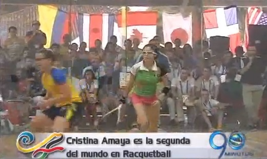 La caleña Cristina Amaya se quedó con la medalla de plata en racquetball