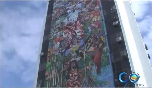 Buenaventura reestrena mural en el aniversario de su fundación