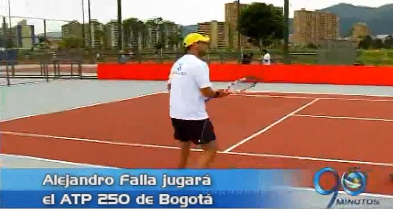 Alejandro Falla una gran figuras del tenis estará en el ATP 250 de Bogotá