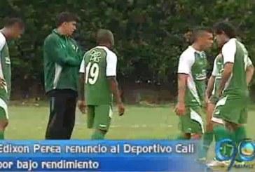 Renunció Edixon Perea al Deportivo Cali por bajo rendimeinto