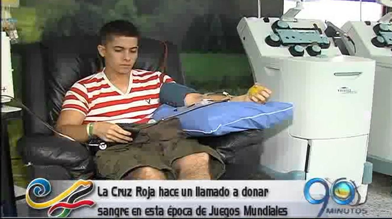 Cruz Roja Colombiana sin sangre para los Juegos Mundiales