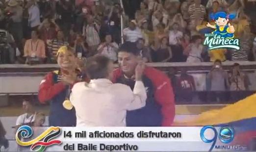 La pareja colombiana ganó oro en baile deportivo, acción y sabor en los JJ. MM.