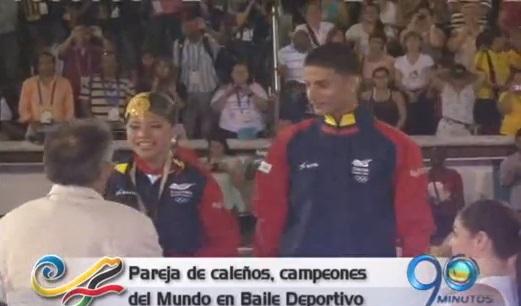 Pareja de caleños ganó oro en baile deportivo en la modalidad salsa