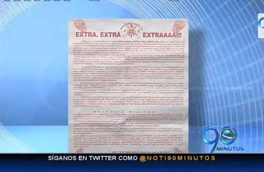 Circulan panfletos amenazantes en el barrio Petecuy de Cali