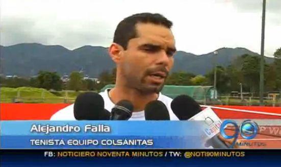 El caleño Alejandro Falla debuta en el ATP 250 de Bogotá