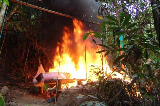 Laboratorio para procesar cocaína en el Cauca fue desmantelado