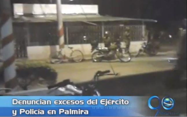 Comunidad de un barrio de Palmira exige explicaciones por balacera