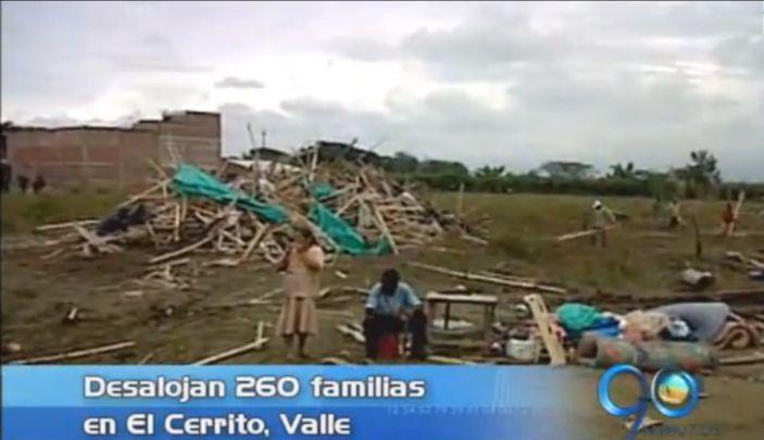 Desalojan a 260 familias en El Cerrito, Valle
