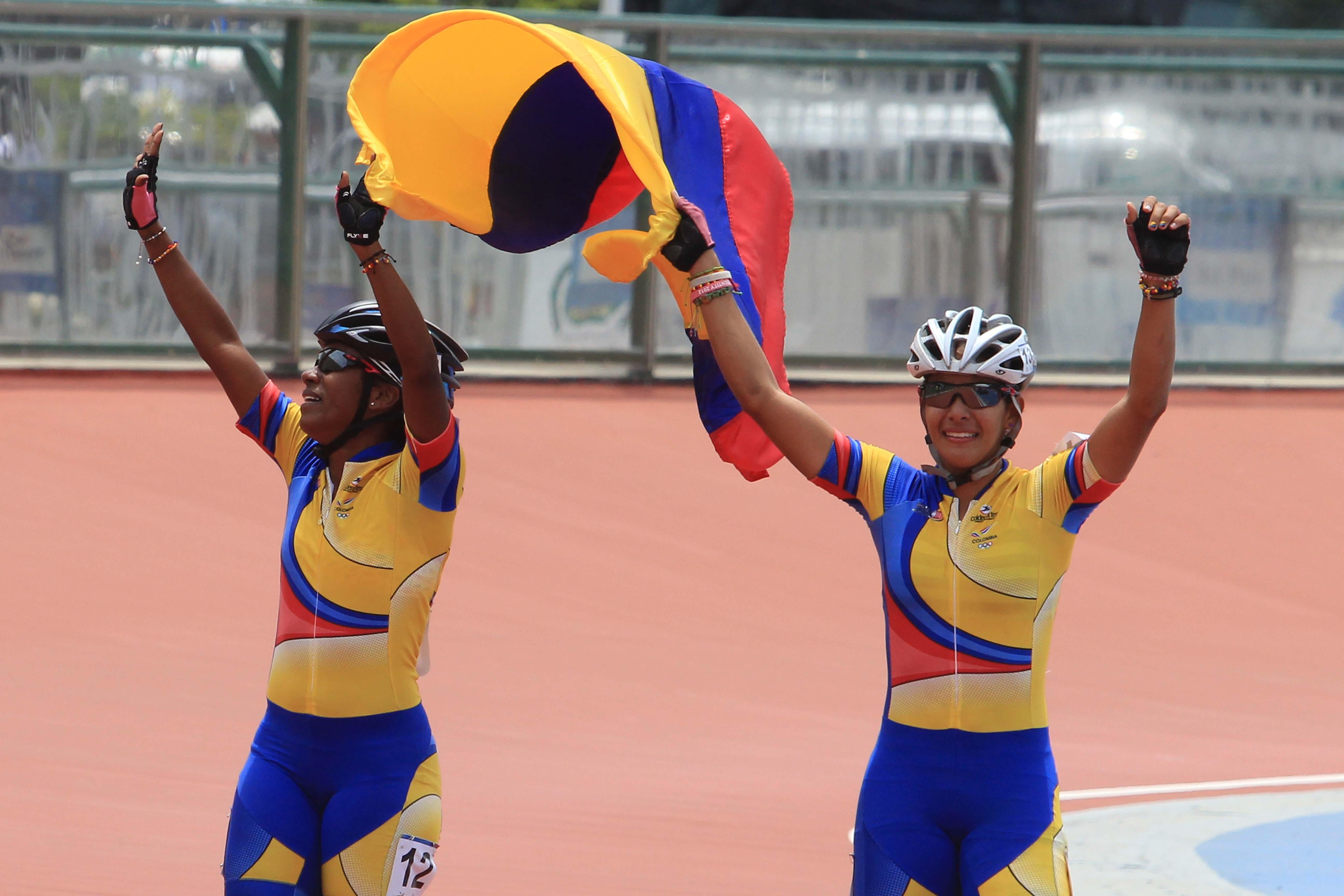 Colombia ganó oro y plata en patinaje de velocidad de los JJ. MM.