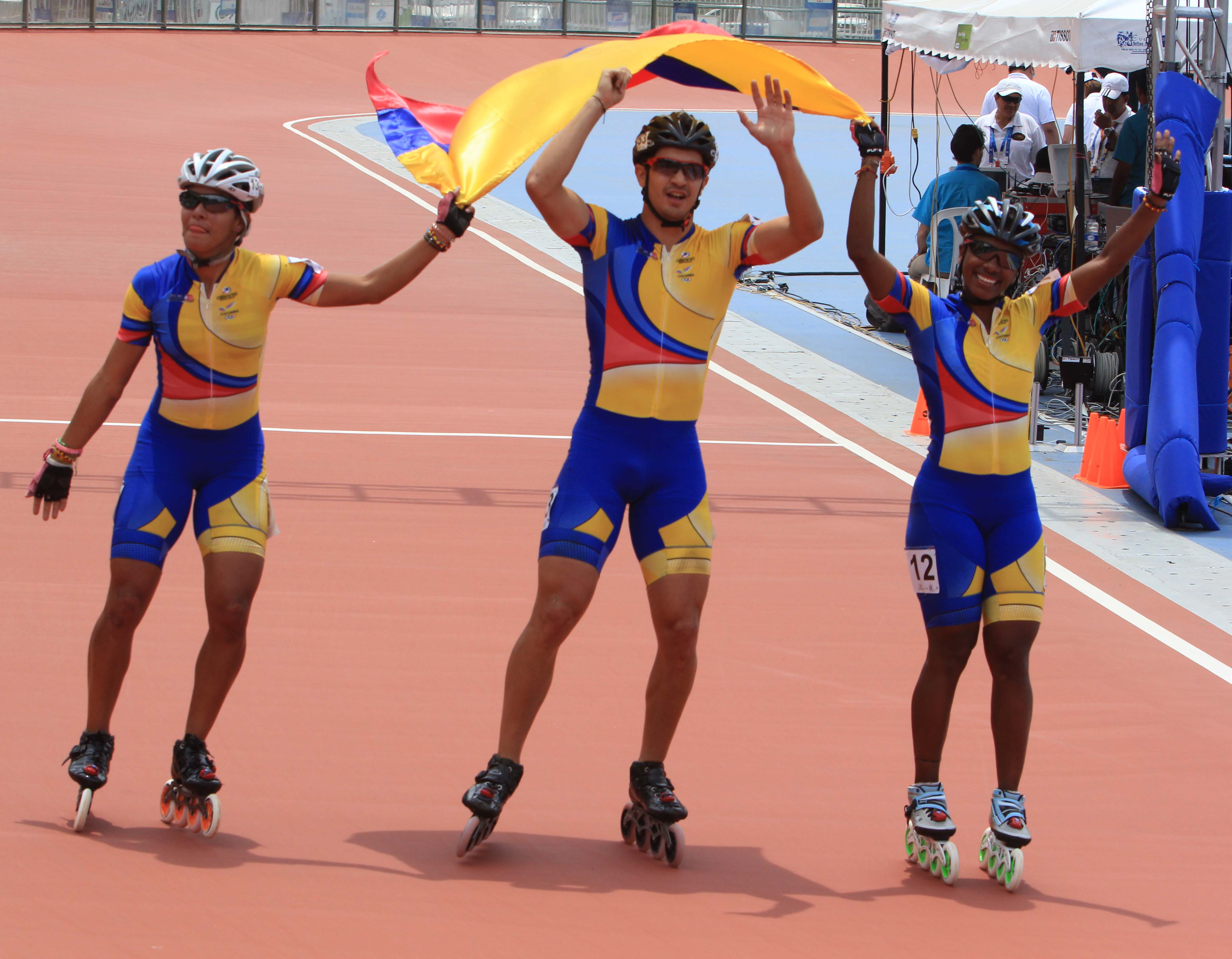 Patinadores de oro para Colombia en los Juegos Mundiales