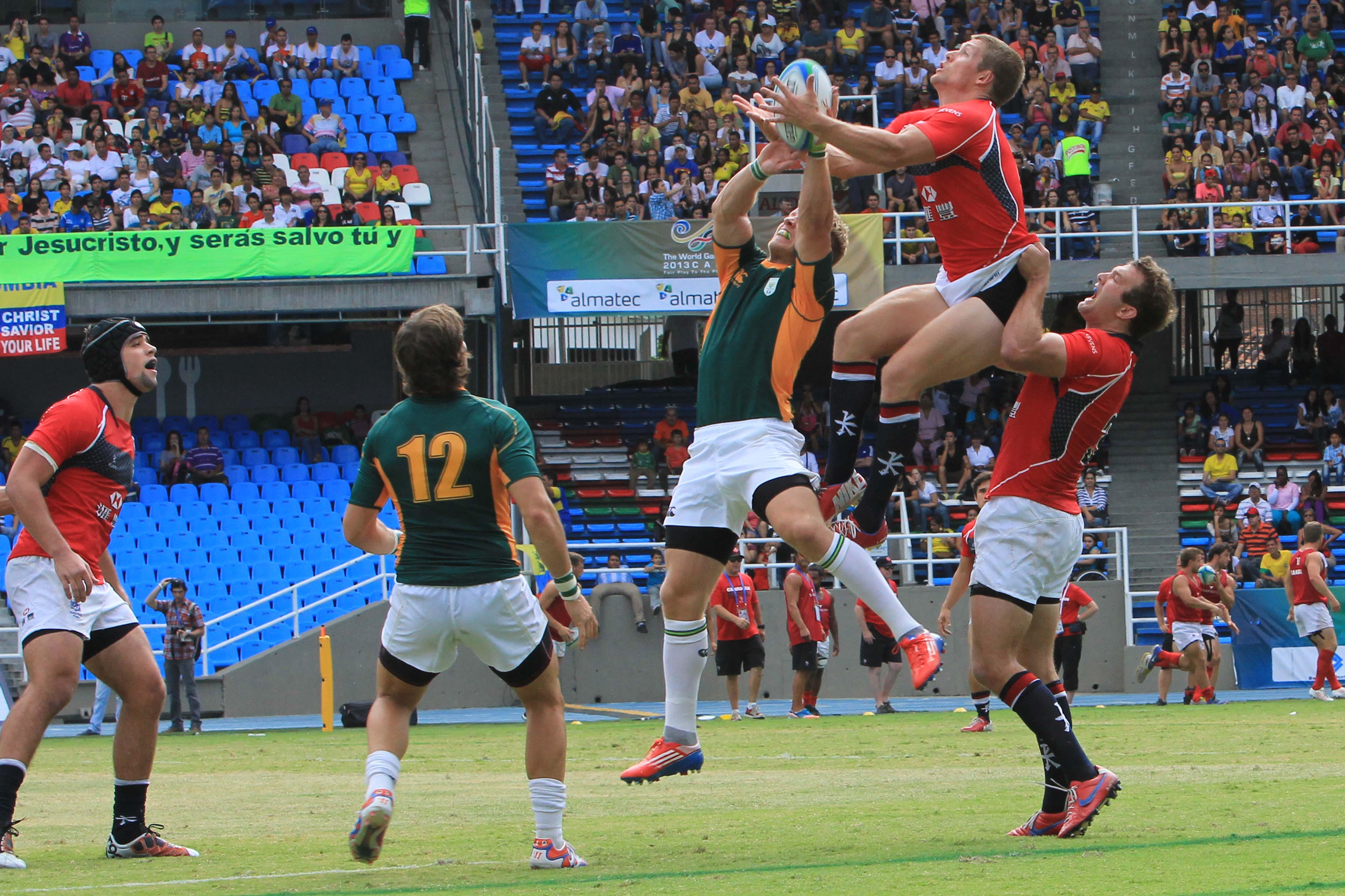 El rugby 7 hace vibrar a los asitentes en el Pascual Guerrero