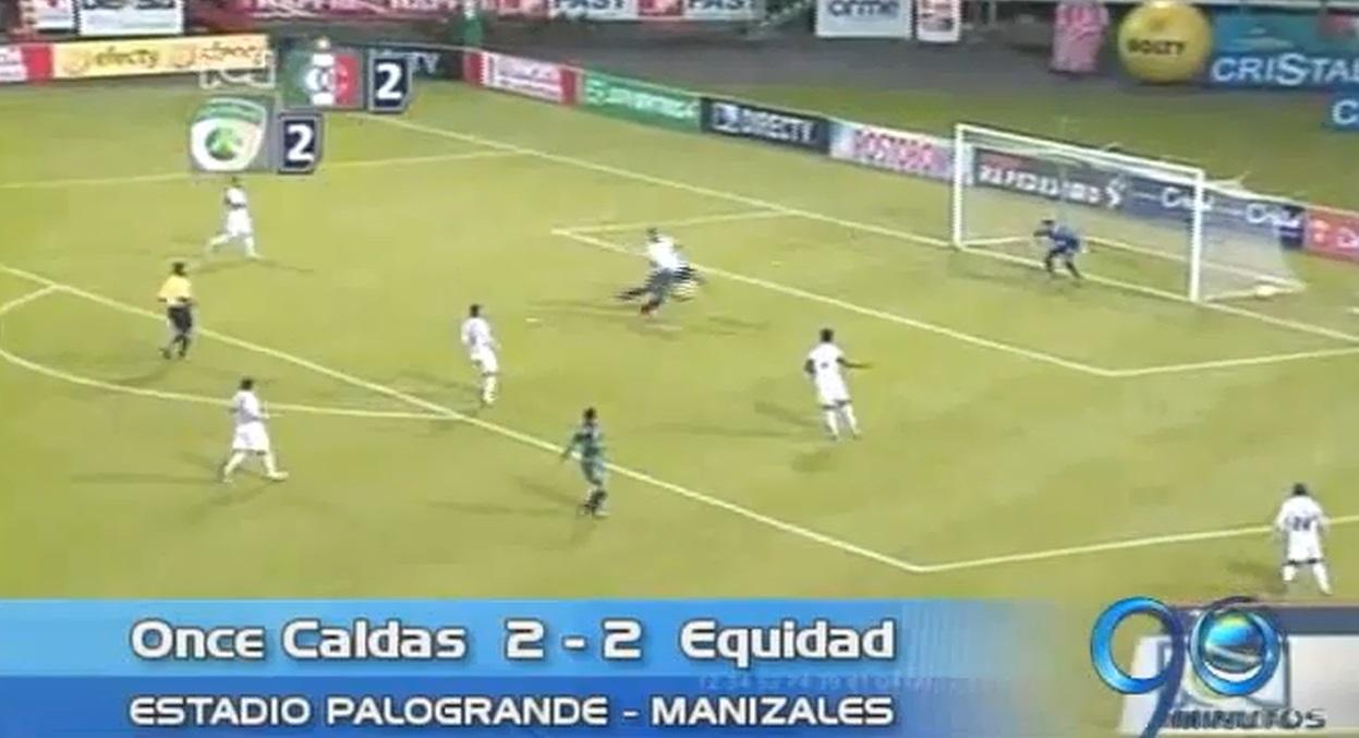 Once Caldas y Equidad empataron a dos goles en nueva fecha de la Liga