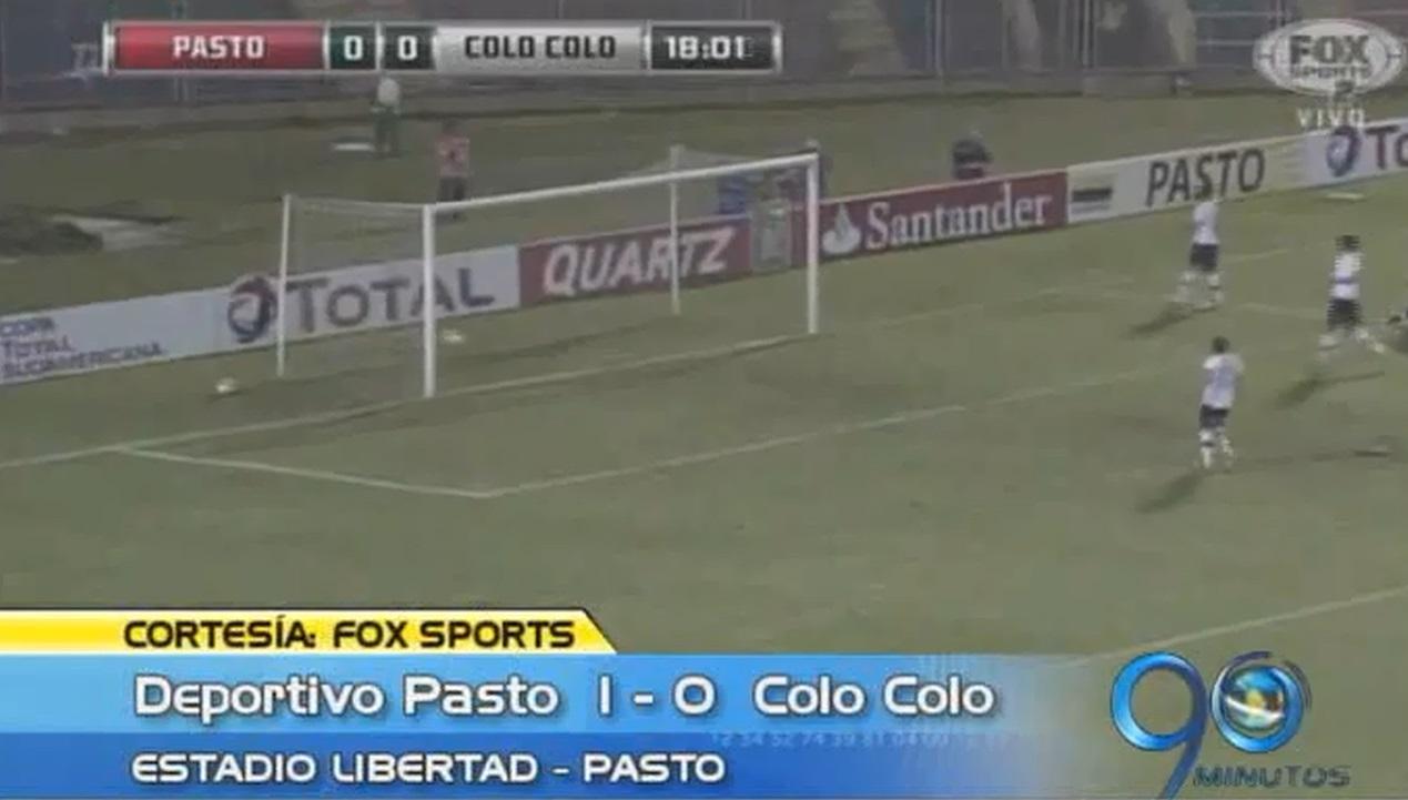 Deportivo Pasto venció a Colo Colo en primer partido de Copa Suramericana