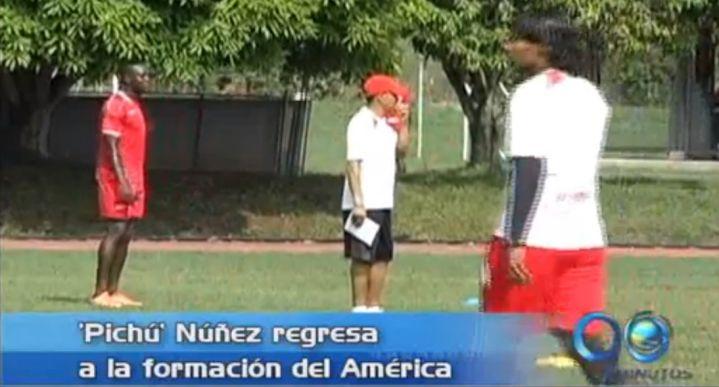Juan Gilberto 'Pichú' Núñez regresa a la titular del América de Cali