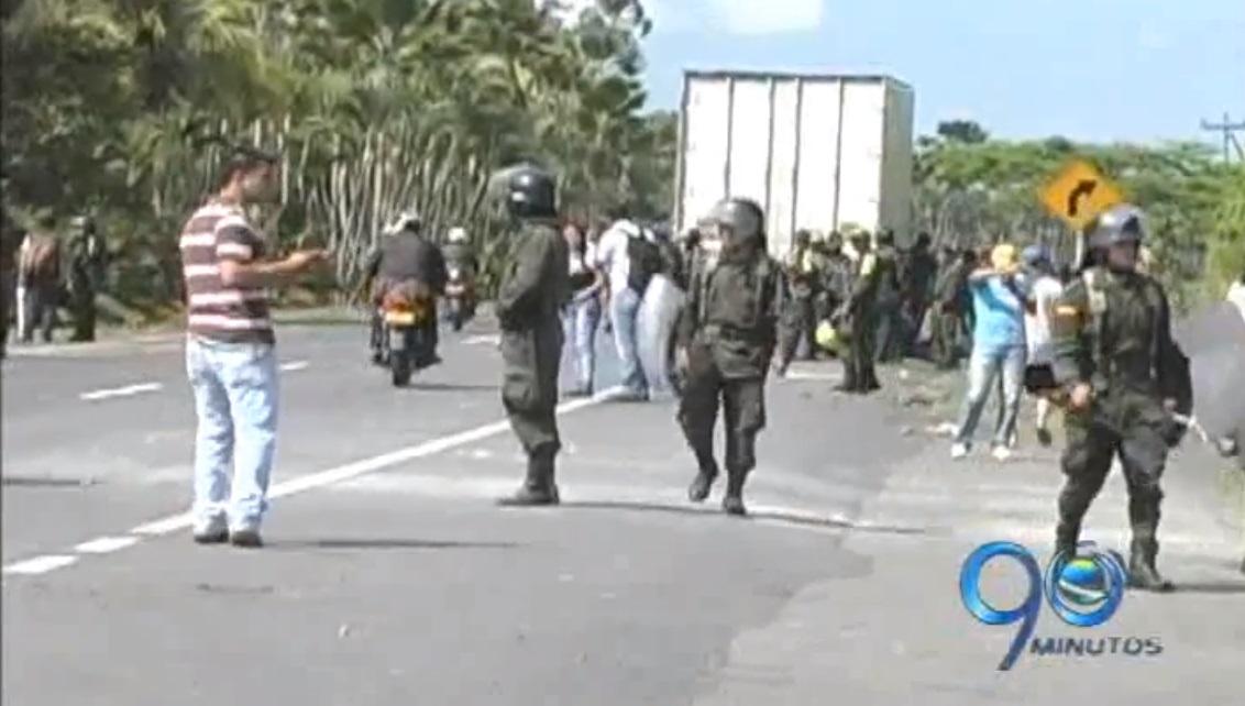 Las protestas en el Valle se dan en medio de enfrentamientos con la policía