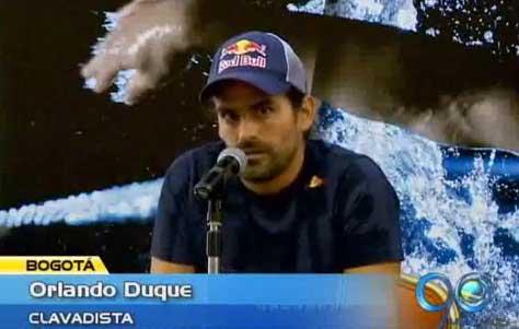 El clavadista Orlando Duque regresó al país
