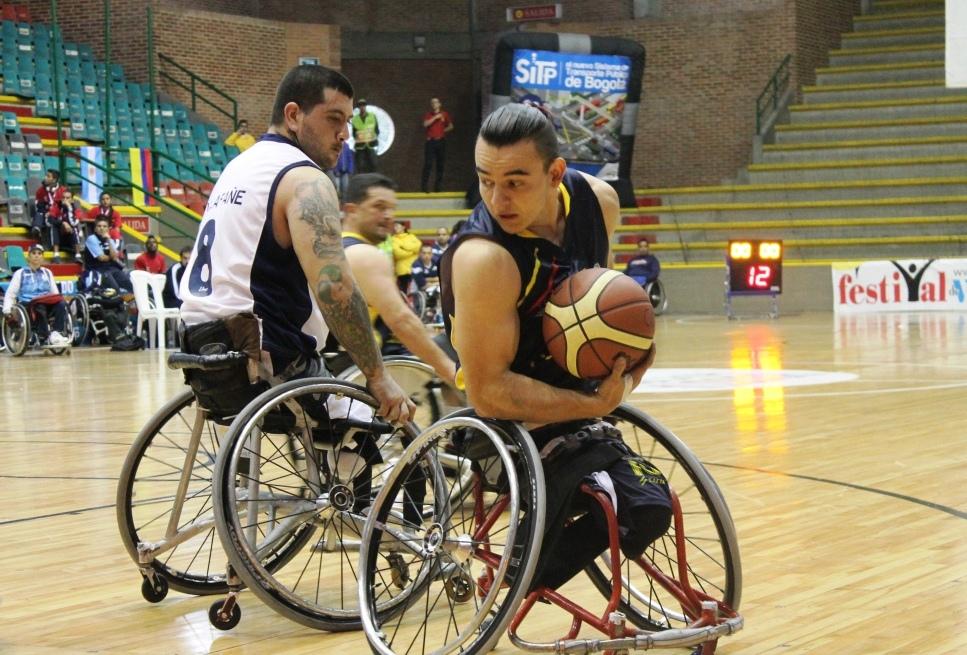 Colombia cuarta en la 6ta copa suramericana de baloncesto sobre ruedas