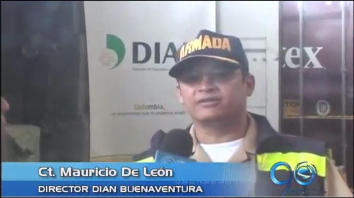DIAN incautó 5 contenedores de contrabando en Buenaventura