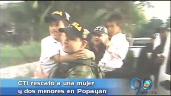 CTI rescató a una mujer y dos menores en Popayán