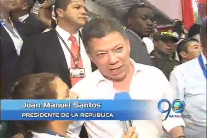 Visita relámpago del Presidente Santos a Cali