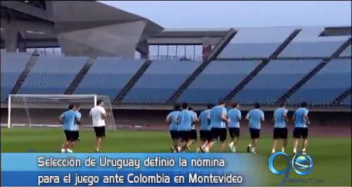 Uruguay definió la nómina para juego ante Colombia