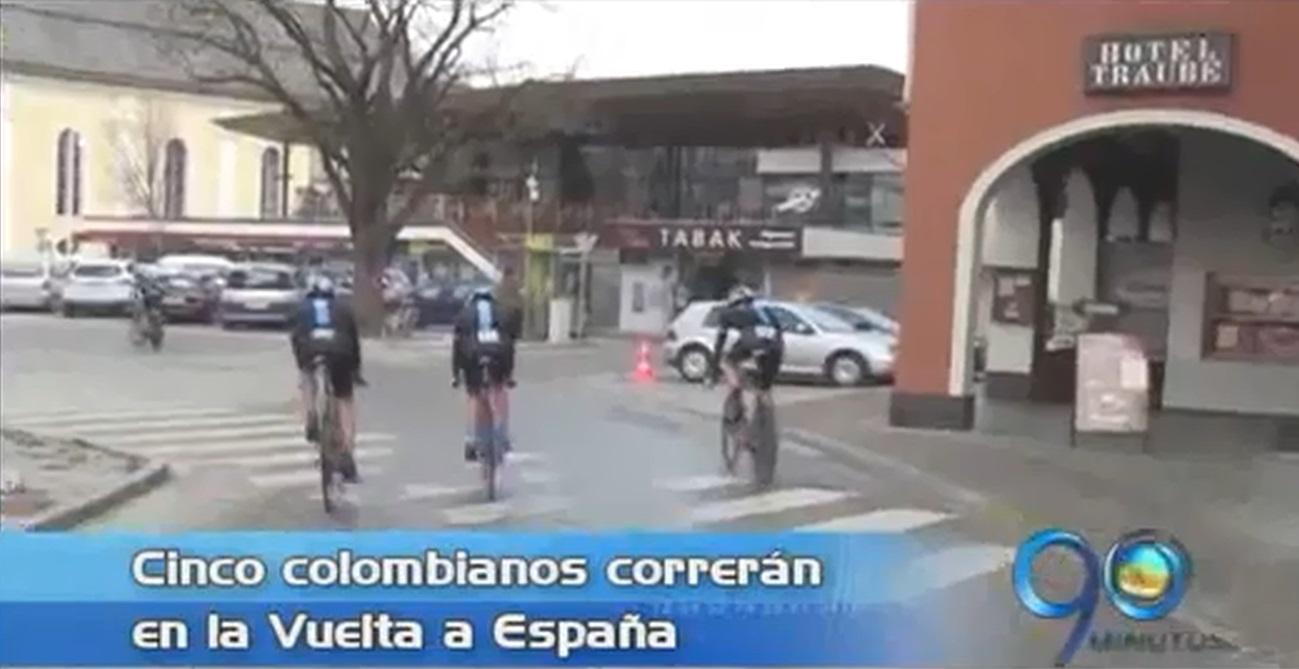 Cinco colombianos correrán en otra versión de la Vuelta a España