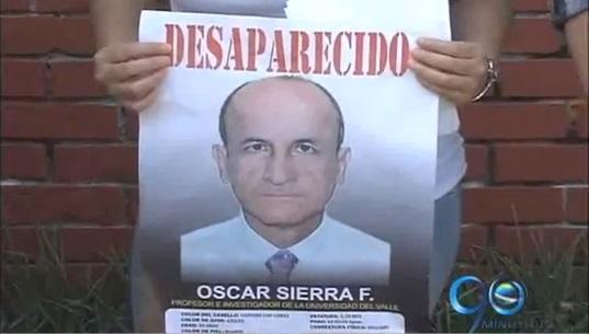 Dos semanas sin rastro del profesor Óscar Sierra