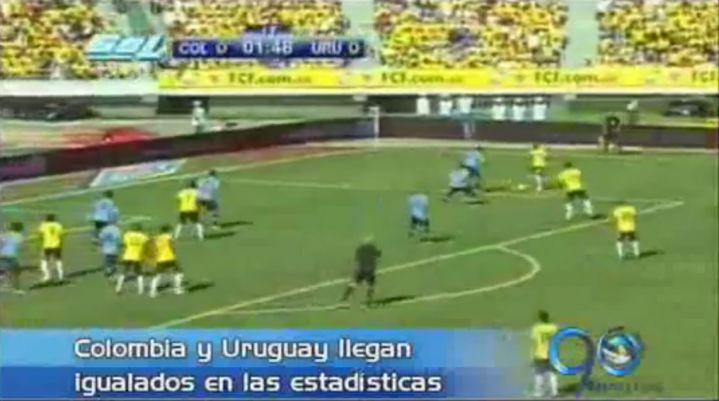 Colombia y Uruguay llegan igualados en las estadísticas