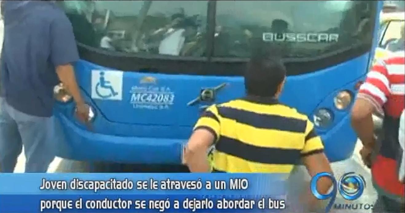 Deportista discapacitado denuncia discriminación de conductor del MÍO