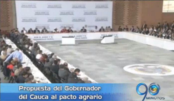 Gobernador del Cauca presenta propuesta para el pacto agrario