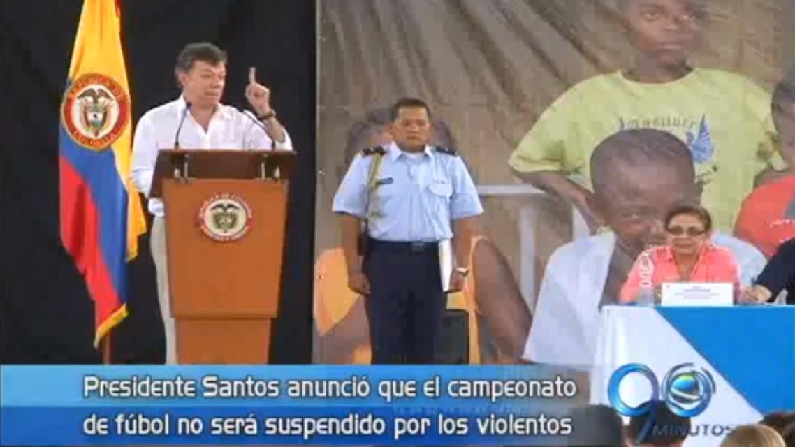 Presidente Santos anunció que el campeonato de fútbol no será suspendido