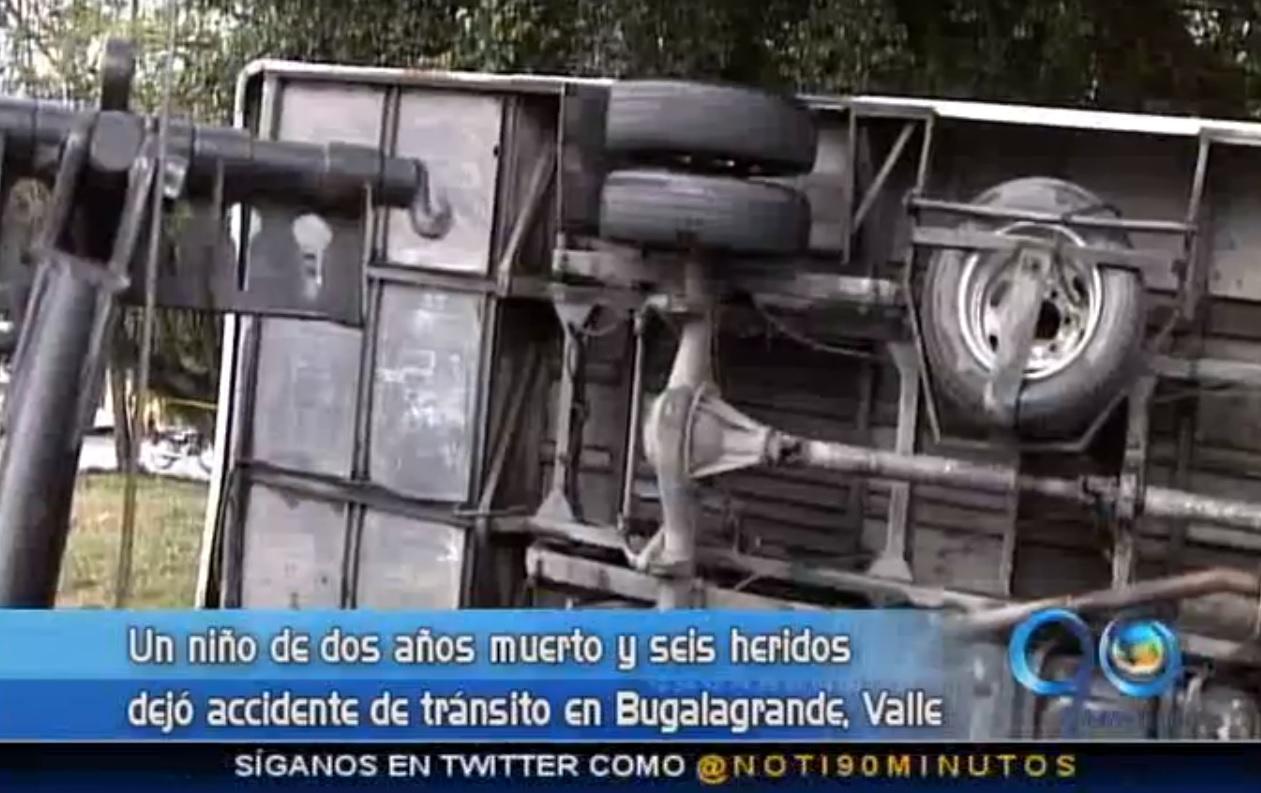 Accidente en Bugalagrande, Valle, dejó un muerto y seis heridos