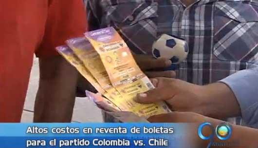 Altos costos en reventa de boletas para el partido Colombia vs Chile