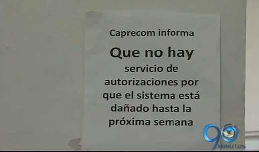 Difícil situación de los pacientes de Caprecom